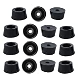 uxcell® 15pcs Rubber Feet Bumper Buffer Feet Furniture Chair Table Cabinet Leg Pads Anti-Slip with Metal Washer, D25x21xH13mm