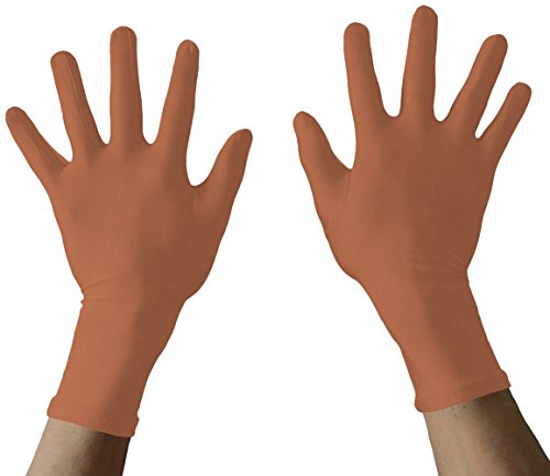 Seeksmile Adult Lycra Spandex Gloves Many Colors Available (Free Size, brown)