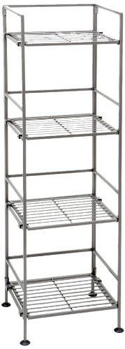 Seville Classics 4-Tier Iron Square Tower Shelving 2-Pack