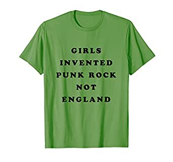 girls invented punk rock not england t shirt clothing. Black Bedroom Furniture Sets. Home Design Ideas