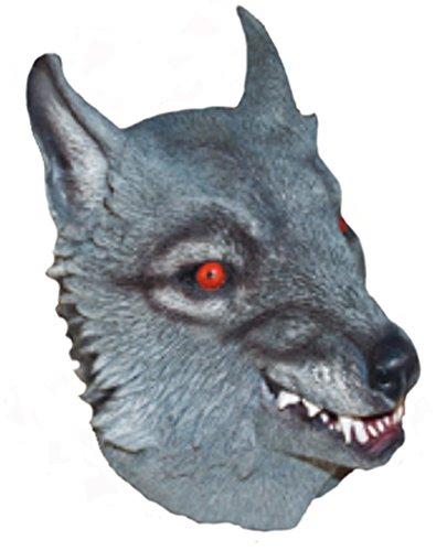 Grey Adult Latex Wolf Werewolf Mask