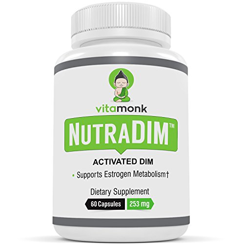 "NutraDIMâ""¢ Bio-Enhanced DIM Supplement - With Piperine - by VitaMonk - 200mg Capsules - Potent Anti Estrogen Supplements For Men and Women - DIM Plus Bioperine for Superior Absorption"