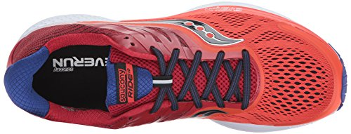 Saucony Mens Ride 10 Running-Shoes Orange Red