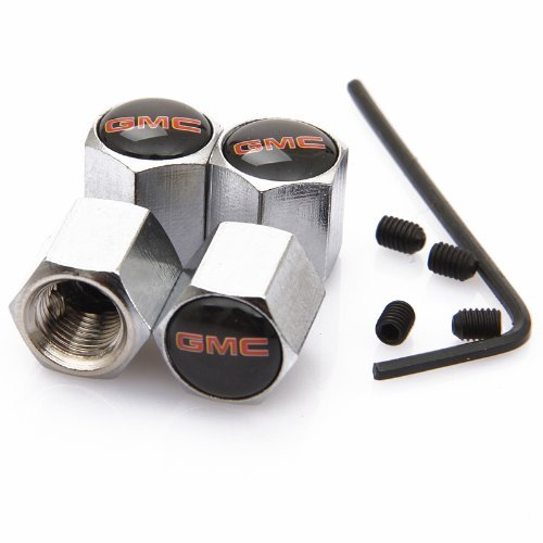 MYLMSM Auto Anti-theft Metal Car Wheel Tyre Tire Stem Air Valve Cap For GMC