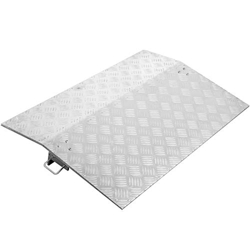 """BestEquip Truck Dock Plate 4700lbs 24"""" Length 36"""" Usable Width 10mm Thickness Loading Dock Plates Aluminum Dock Plate for Carts Pallet Trucks"""