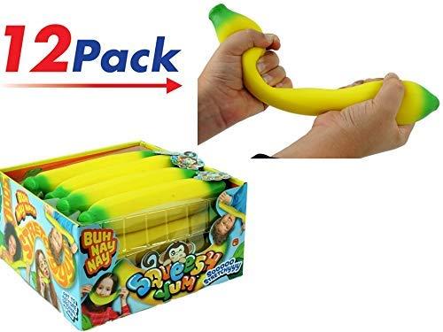 (JA-RU Super Stretchy Banana (Pack of 12) Stretches Long Shrink Slow. | Item)