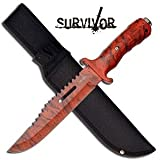 Survivor HK-727RC Outdoor Fixed Blade Knife 12-Inch Overall