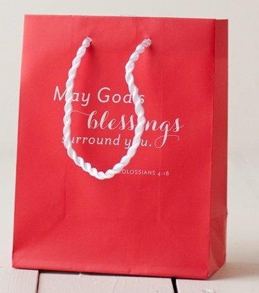 May God's Blessings Surround You (Dayspring 4688-3) Red Small Gift Bag