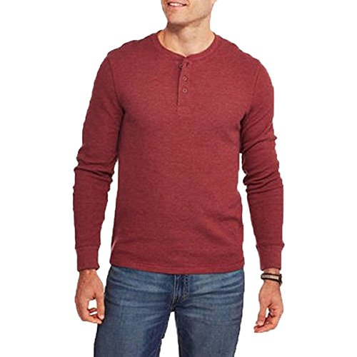 Faded glory faded glory mens long sleeve waffle thermal for Men s thermal henley long sleeve shirts