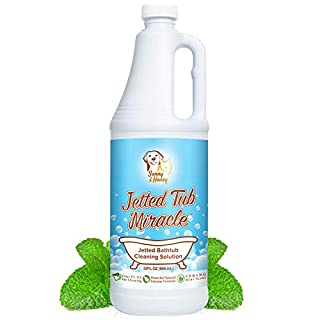 Jetted Tub Miracle - The Best Jacuzzi Tub Jet Cleaner, Whirlpool Bathtub Jet Cleaner, Easy to use Spa Hot Tub & Bath System Natural Cleaning Solution Remover, Amazing Value 8 Cleanings Per Bottle, Smells Great While Cleaning, Leaping Bunny Certified