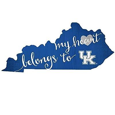 Fan Creations University of Kentucky My Heart Belongs State Sign, Multi