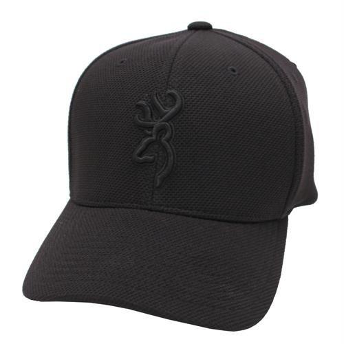 Browning Coronado Pique Buckmark Cap, Black, Small/Medium