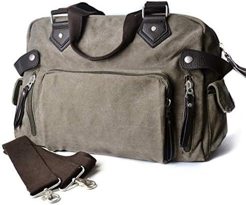 多目的キャンバスクロスボディレジャースポーツフィットネスバッグメンズ大容量の多目的屋外のトラベルバッグ多目的ポケットデザインブラック、グレー HMMSP (Color : Gray, Size : 42×13×30cm)