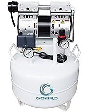 Goard Oil Free Air Compressor,Noiseless Oil Free Oilless Air Compressor 40L 550W 130L/min 1PC Dental Chair