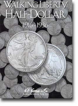 Harris Coin Folder – Liberty Walking Half Dollars #1 Folder 1916-1936 #8HRS2693 by H.E. Harris