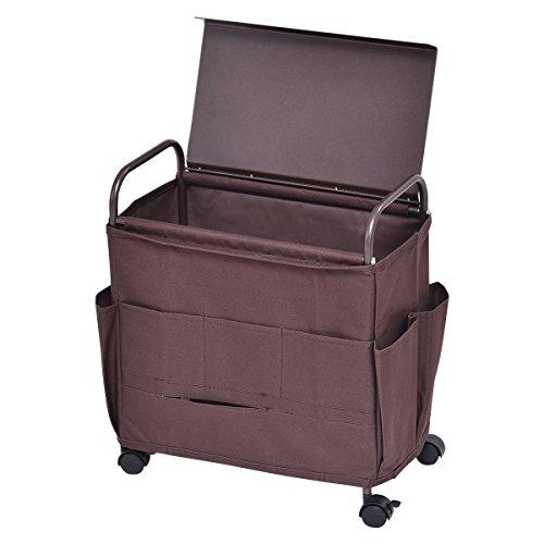 Rolling Cart Storage Rack Organizer Magazine TV Controller 8 Pocket
