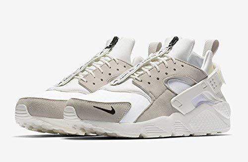 Nike Mens Air Huarache Fashion Sneakers (10 M US, White/Vast Grey-Summit White)