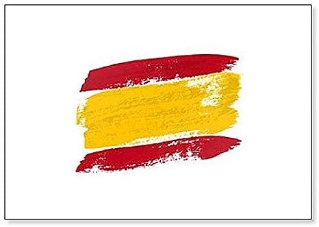 Bandera de España hecha de pincel Strokes imán clásico para nevera: Amazon.es: Hogar