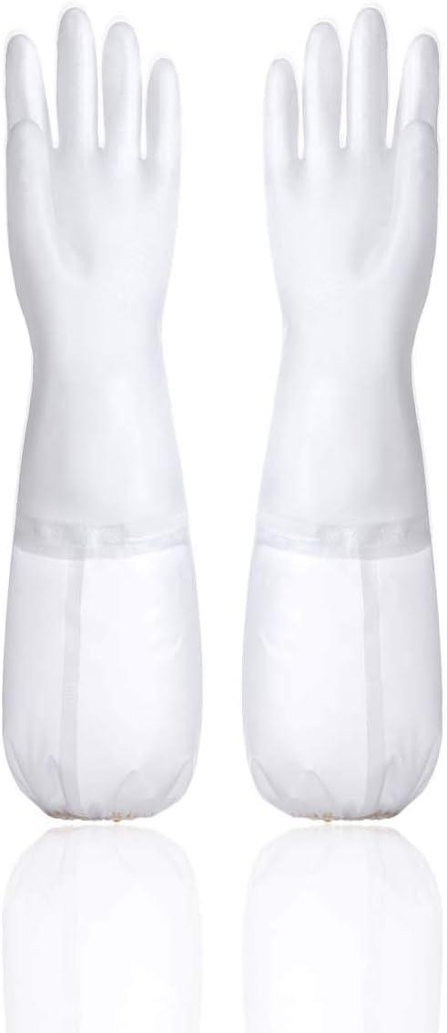 AIJIAJU Gants de Vaisselle /épaissir Automne et Hiver v/êtements de Lavage Cuisine imperm/éable en Plastique en Caoutchouc m/énage Nettoyage en Caoutchouc Latex