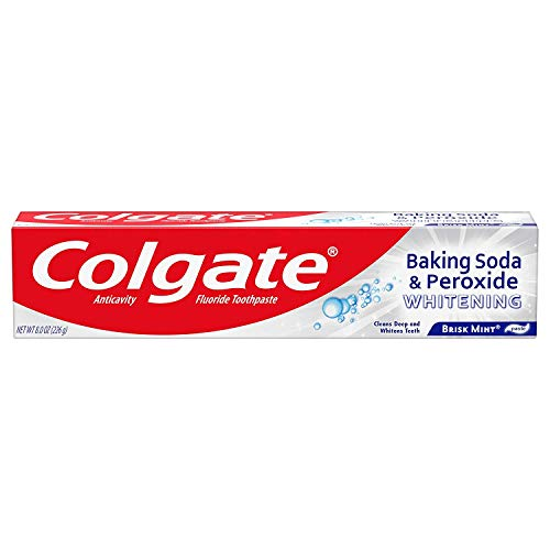 Colgate Baking Soda and Peroxide Whitening Bubbles Toothpaste, Brisk Mint, 8 Ounce