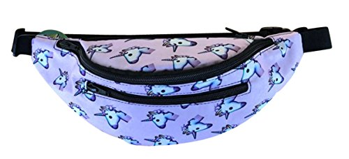 Festie Fever Rave Fanny Pack (Unicorn Emoji 4-pockets)