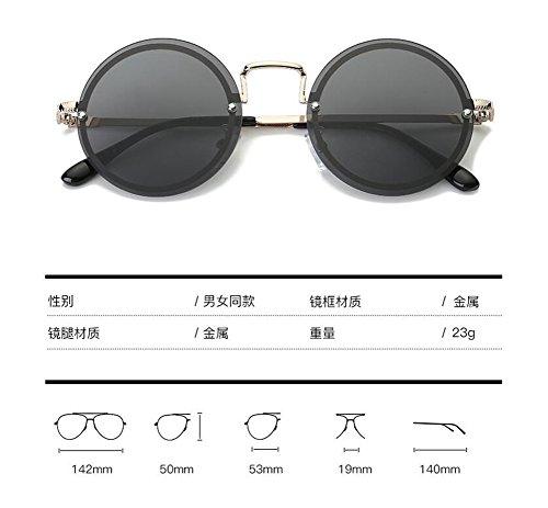 soleil de rond vintage Mercure lunettes retro métallique polarisées cercle en Comprimés du Lennon de style inspirées g5xwSq