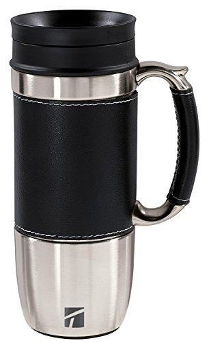 Trudeau Board Room 16-Ounce Travel Mug, Black (Stainless Mug Steel Trudeau)
