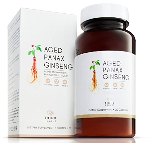 Root 30 Capsules (Korean Aged Panax Ginseng Capsules - Fast and Efficient Absorption - Ginseng Pills for Energy Boost and Stress Relief - 30 Capsules - Panax Ginseng Root Extract Supplement)