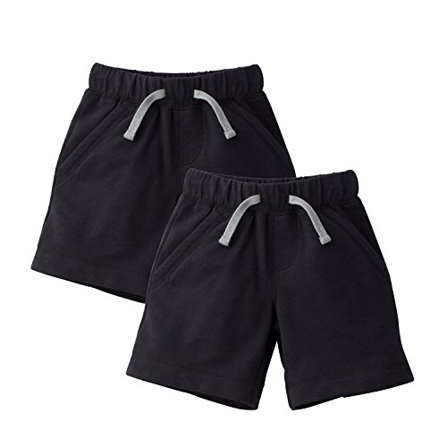 Gerber Graduates Baby Toddler Boys' 2 Pack French Terry Short, Black, - Terry Bright Shorts