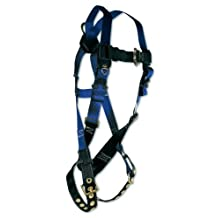 FallTech 7016 Contractor Full Body Harness with 1 D-Ring and Tongue Buckle Leg Straps, Universal Fit