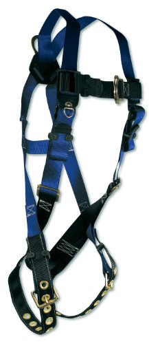 FallTech 7016 Contractor Full Body Harness with 1 D-Ring and Tongue Buckle Leg Straps, Universal Fit by FallTech (Image #1)