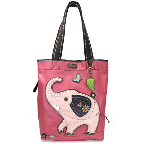 Chala Elephant Everyday Tote, Dark Pink