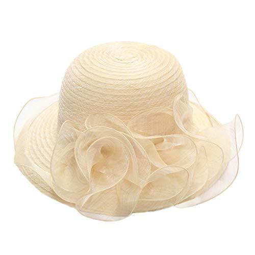 Weiliru Lady Derby Dress Church Cloche Hat Bow