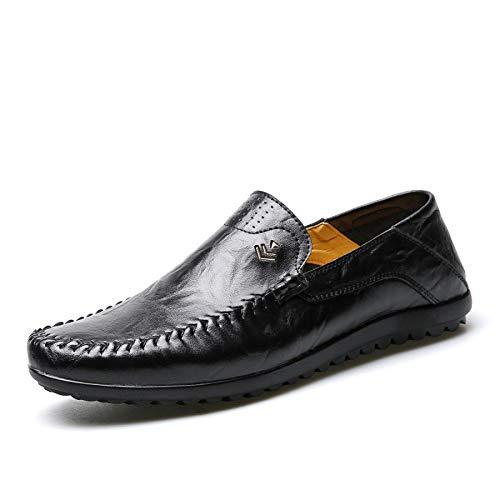 Frühlings-Erbsenschuhe der Männer Beiläufige Schuhe Arbeiten Weiche Unterseite Britische Breathable Schuhe Um Black