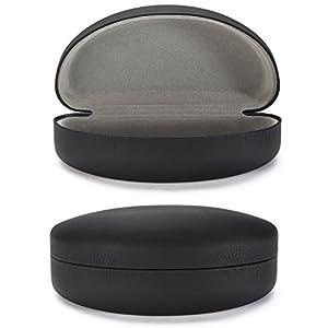 ALTEC VISION X Large Hard Shell Case Oversized Sunglasses Glasses - Black/Gray
