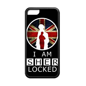 Perfect Arts Hot Movie I Am Sherlock Holmes Locked Unique Custom IPHONE 5C Best Rubber+Plastic Cover Case by ruishername