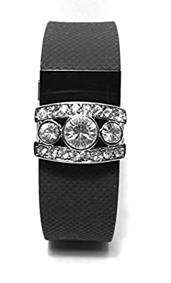 Fitness Band Bling Accessory for Fitbit Charge Hr ,Fitbit Flex Wristband (Only Bling Accessory, No Trackers, No Wristband)