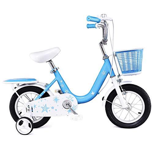 Goplus Kids Bike w/Training Wheels and Basket, 12