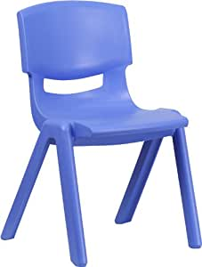 Share Facebook Twitter Pinterest  sc 1 st  Amazon.com & Amazon.com: Flash Furniture Blue Plastic Stackable School Chair with ...