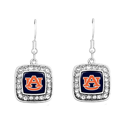 - Officially Licensed Auburn Tigers Square Earrings