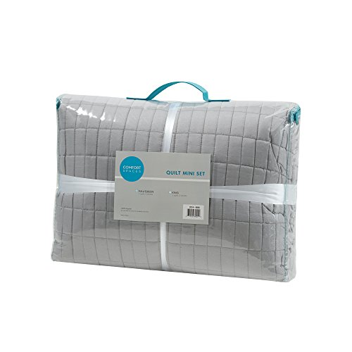 Comfort Spaces - Kienna Quilt Mini Set - 3 Piece - Gray - Stitched Quilt Pattern - Full/Queen Size, Includes 1 Quilt, 2 Shams by Comfort Spaces (Image #6)