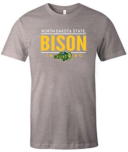 North Dakota Baseball (NCAA North Dakota State Tradition Short Sleeve Tri-Blend T-Shirt, Athletic Grey,Medium)
