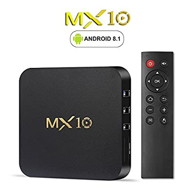 Rockchip 3328 Android 8.1 TV Box MX10 4G RAM 64G ROM Quad Core 2.4G WiFi Set Top Boxes Support 3D 4K Streaming Media Player