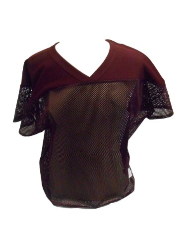 Russell Athletic 10966MK Adult Football Practice Mesh Jersey (Medium, Maroon) (Russell Athletic Mesh Jersey)