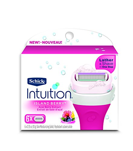 Schick Intuition Island Berry Women's Razor Blade Refills, 6 Count Review