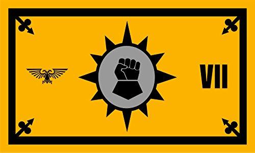 (Warhammer Flag | Imperial Fists Landscape | 3x5 ft / 90x150cm | Long Lasting Flag)