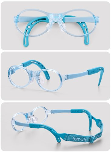 Baby Glasses Costume (Eyeglasses Frames for Babies & Toddlers,(TBAC1, 35X13, Blue), Light Weight, Comfortable Material, Highly Durable, Flexible, with Adjustable Nose Pad & Ear Tip, Shape intelligence and Resilience)