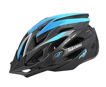 AXER Deportes, Bicicleta Casco Lizard, rayas azules, XL