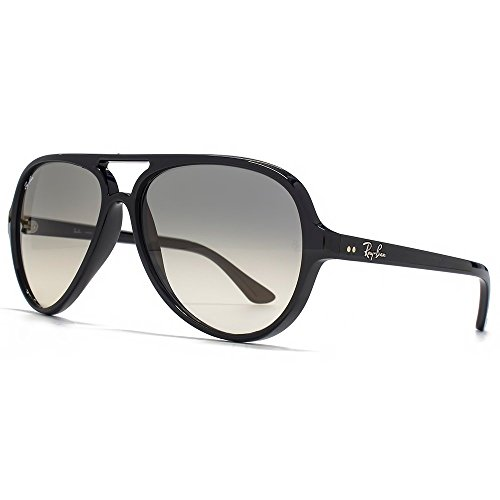 Ray-Ban RB4125 Cats 5000 Sunglasses Shiny Black w/Grey Gradient (601/32) 4125 60132 59mm Authentic