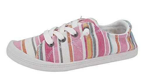 - Jellypop Dallas Womens Slip On Sneakers Pink Multi 7